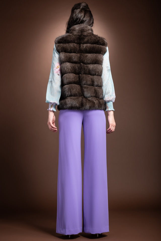 EM-EL Russian Sable Horizontal Fur Vest
