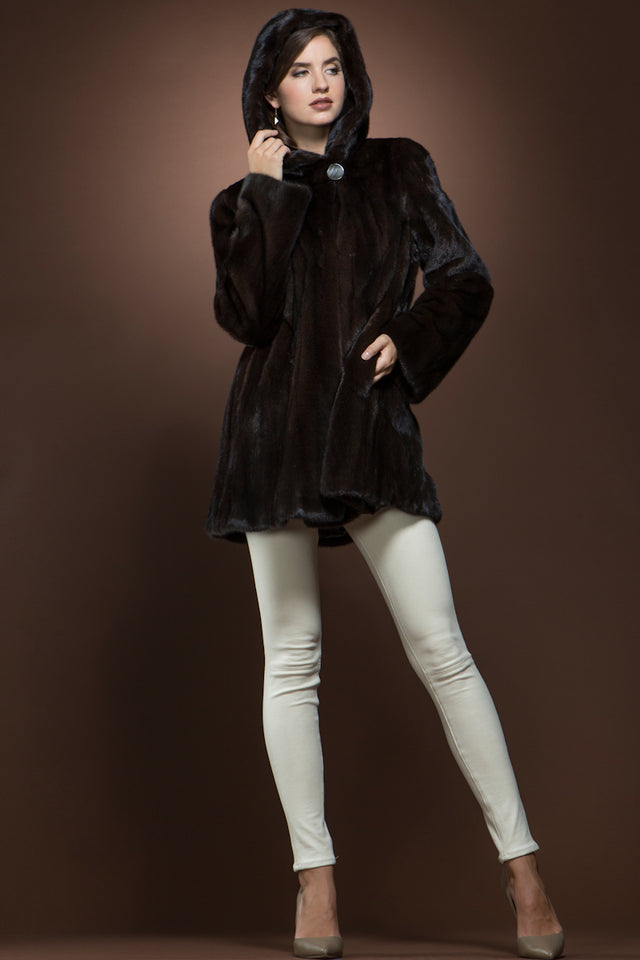 Natural Mink Shaped Fur Jacket