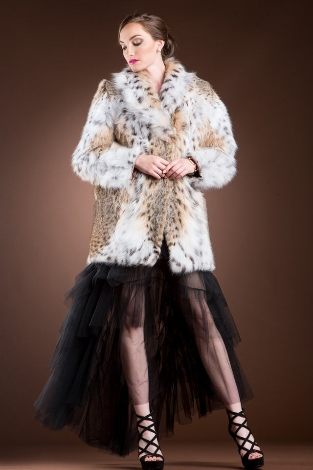 Natural American Lynx Fur Jacket