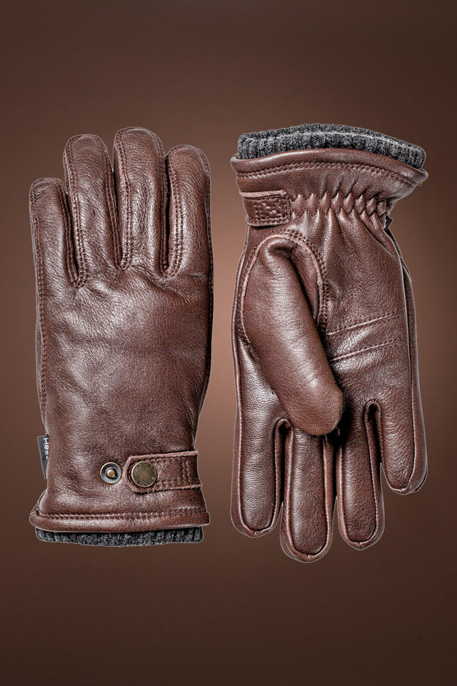 Brown Hestra Men's Elk Utsjo Gloves