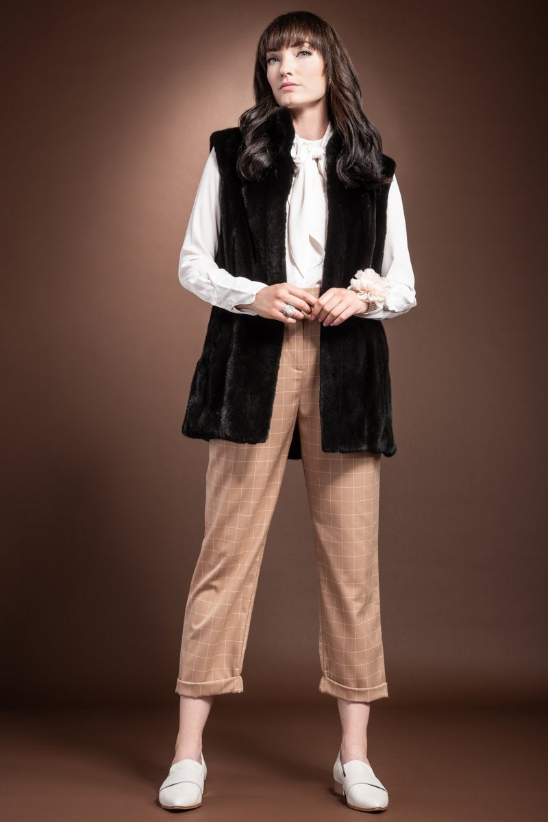 Ranch Mary McFadden Classic Mink Fur Vest
