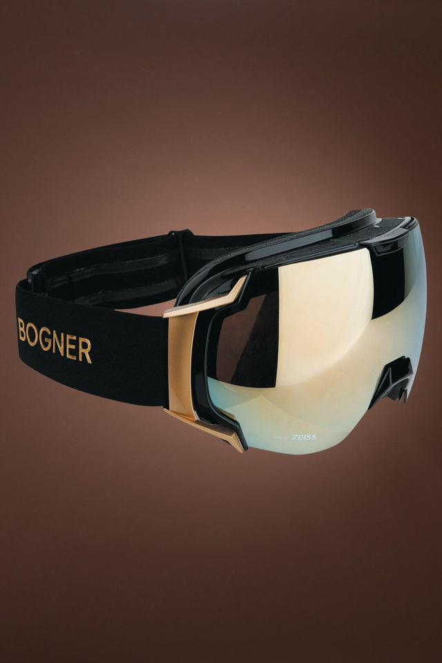 Black Bogner Just-B Gold Black Snow Goggles