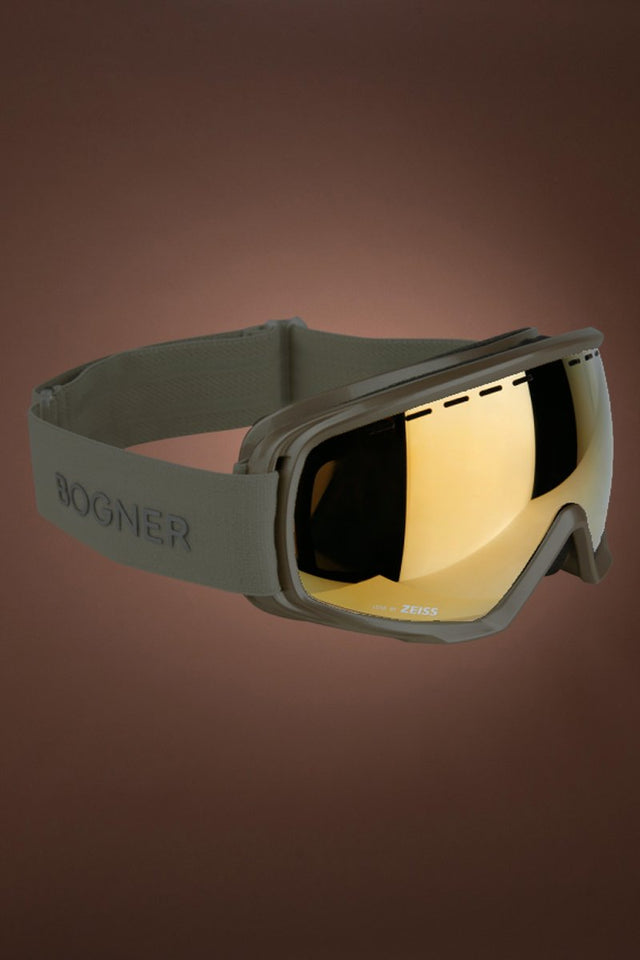 Just B Monochrome Gold Snow Goggles