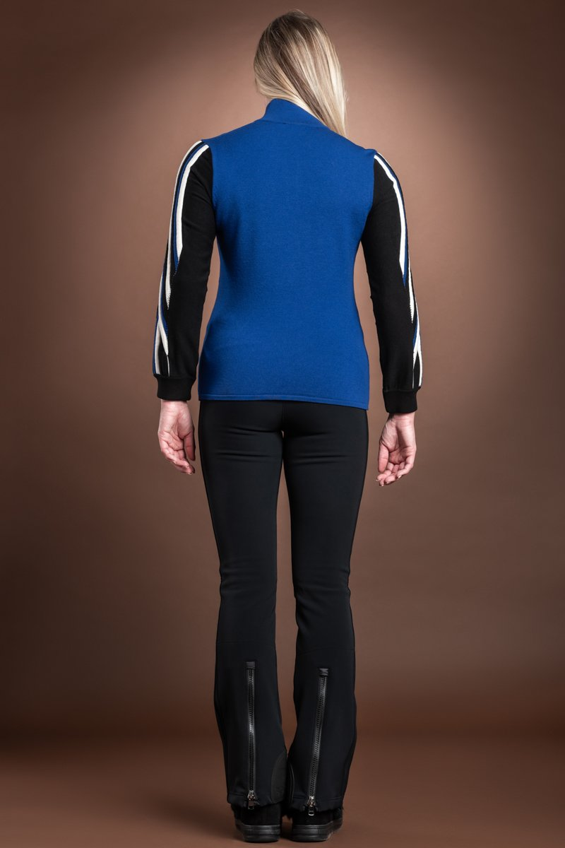 CobaltBlue Bogner Dafne Wool Blend Ski Sweater