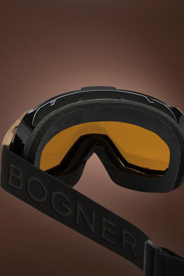 Black Bogner Just B Bamboo Snow Goggles