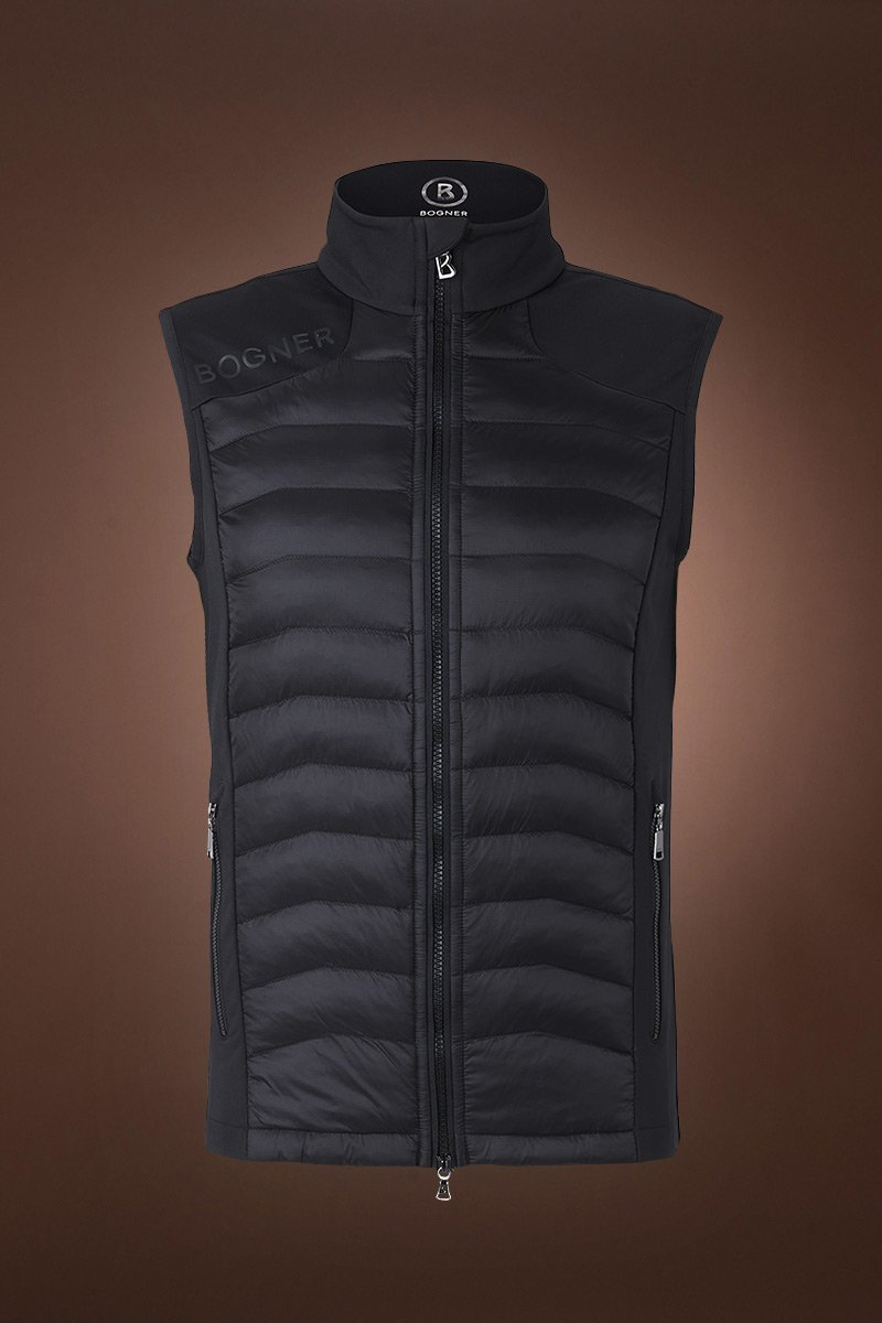 Black Bogner Men's Carson Powerstretch Ski Vest