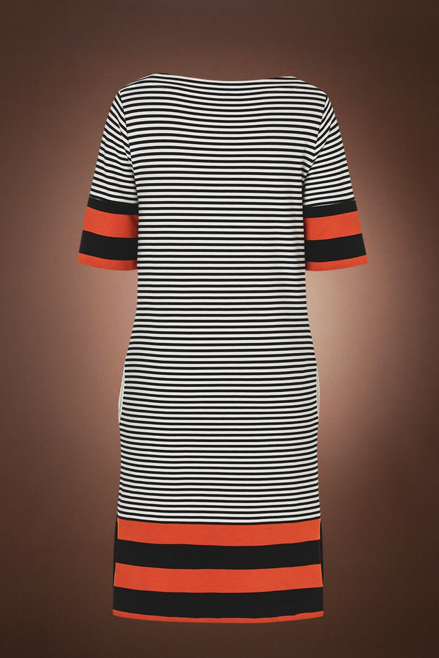 Black Bogner Josefina Striped Dress