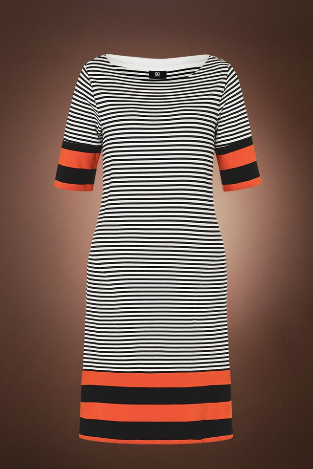 Josefina Striped Dress - Black