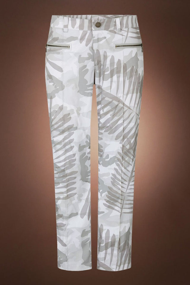 SoftGray Bogner Karen Gray Palm Print Golf Pant