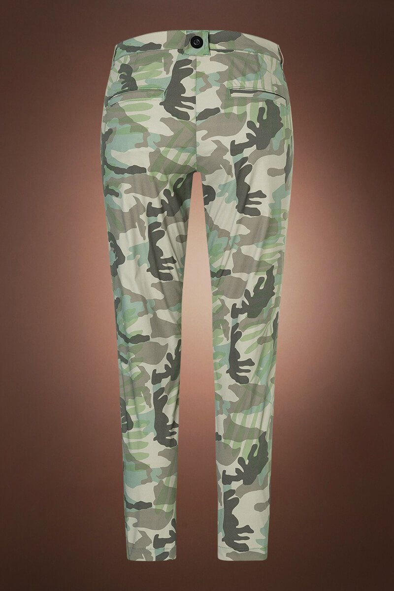 OliveGreen Bogner Karen Green Palm Print Golf Pant