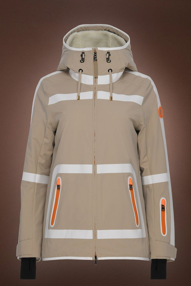 Maddy Tec Ski Jacket - Powder Champagne