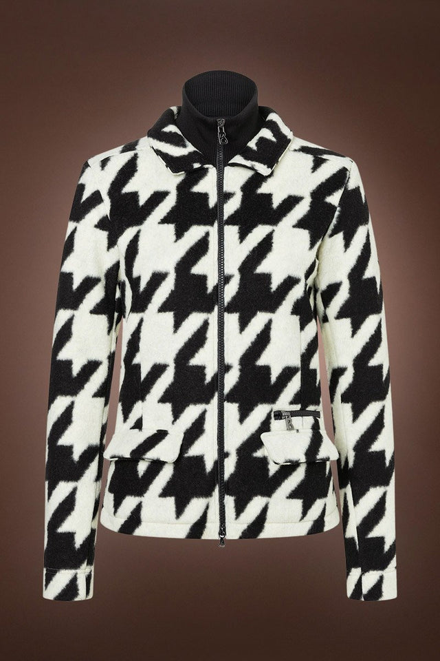 Robyn Fleece Mid Layer Jacket - Houndstooth