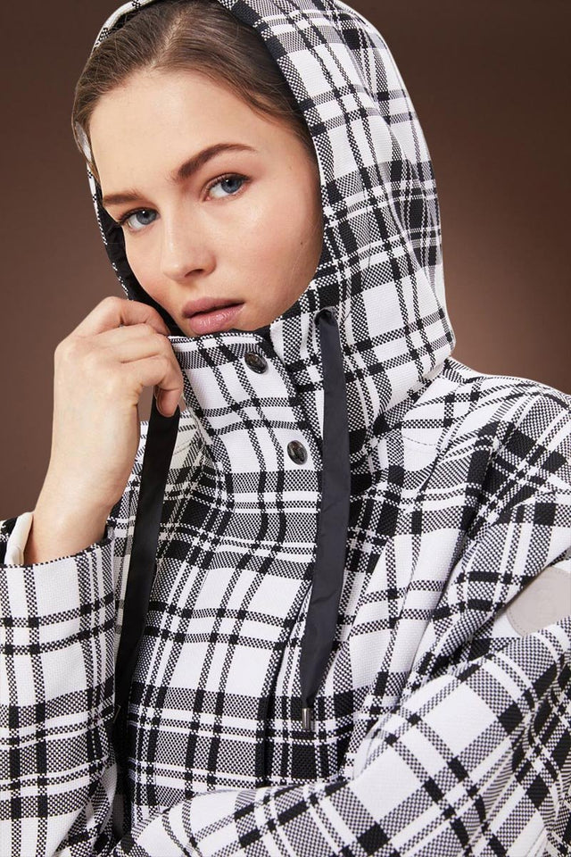 White/Black Bogner Zina Glen Plaid Jacket