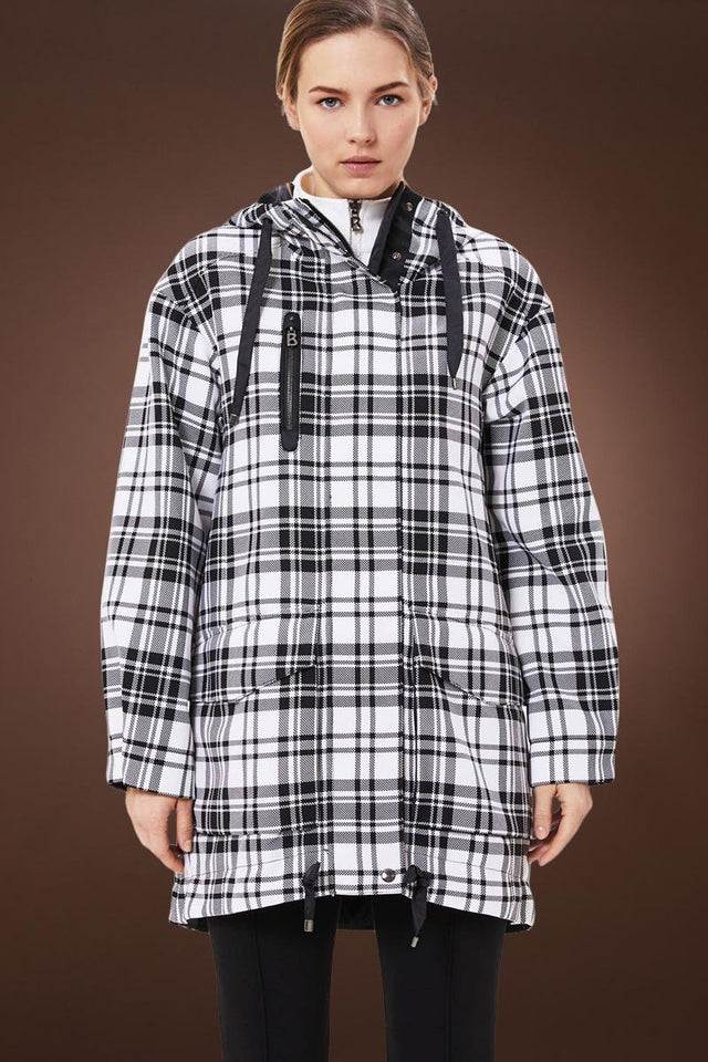 Zina Glen Plaid Jacket - Off White - Black