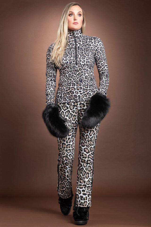 Goldbergh Lilja Leopard Print Base Layer