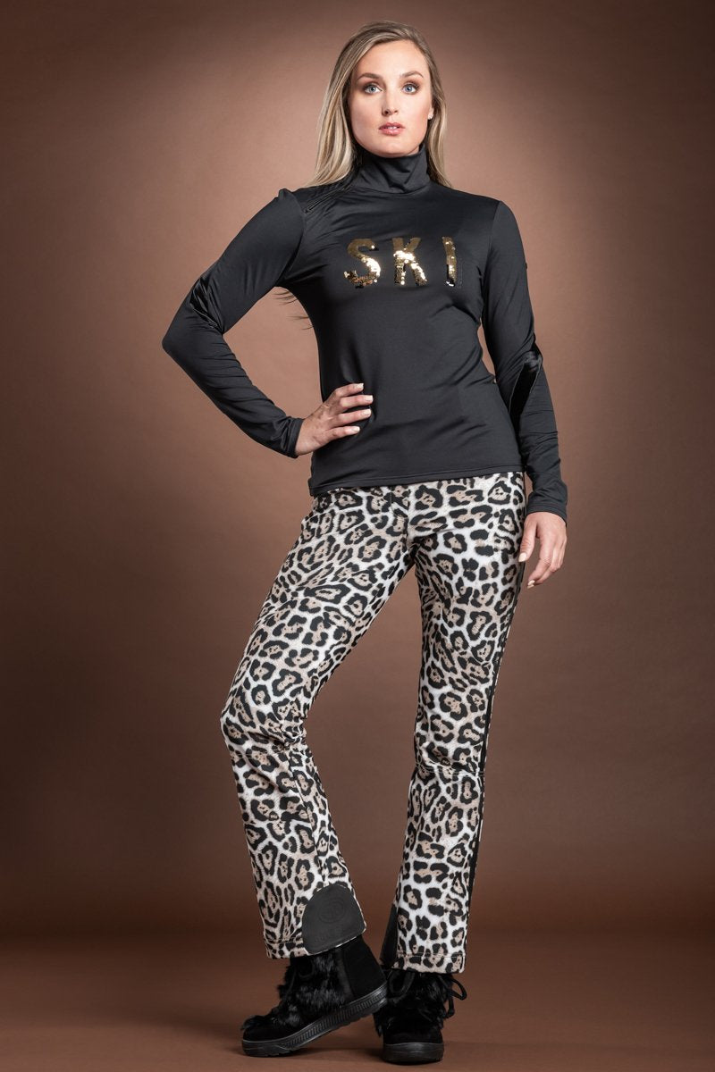 Black Goldbergh Ski Print Sequin Base Layer