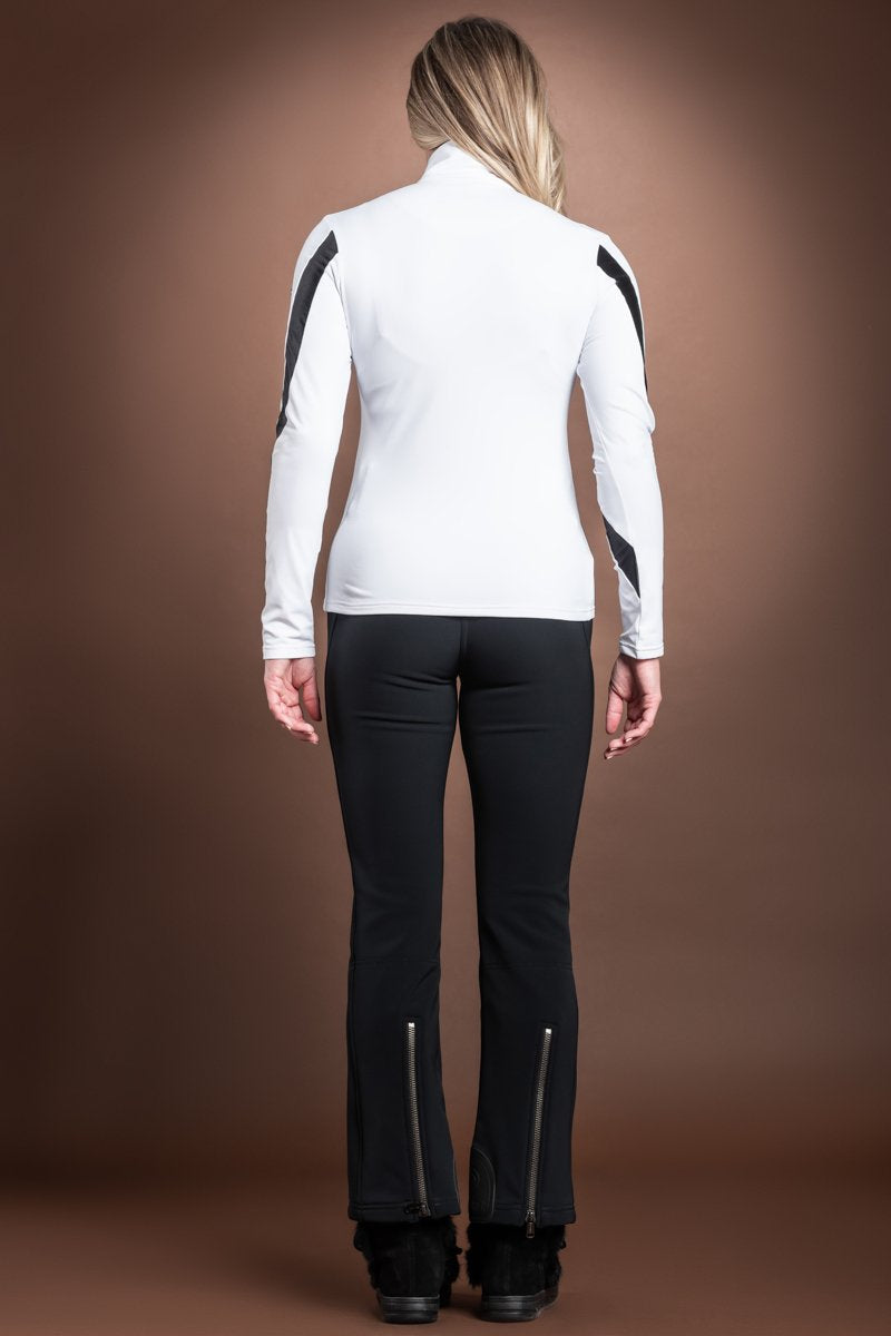 White Goldbergh Ski Print Sequin Base Layer