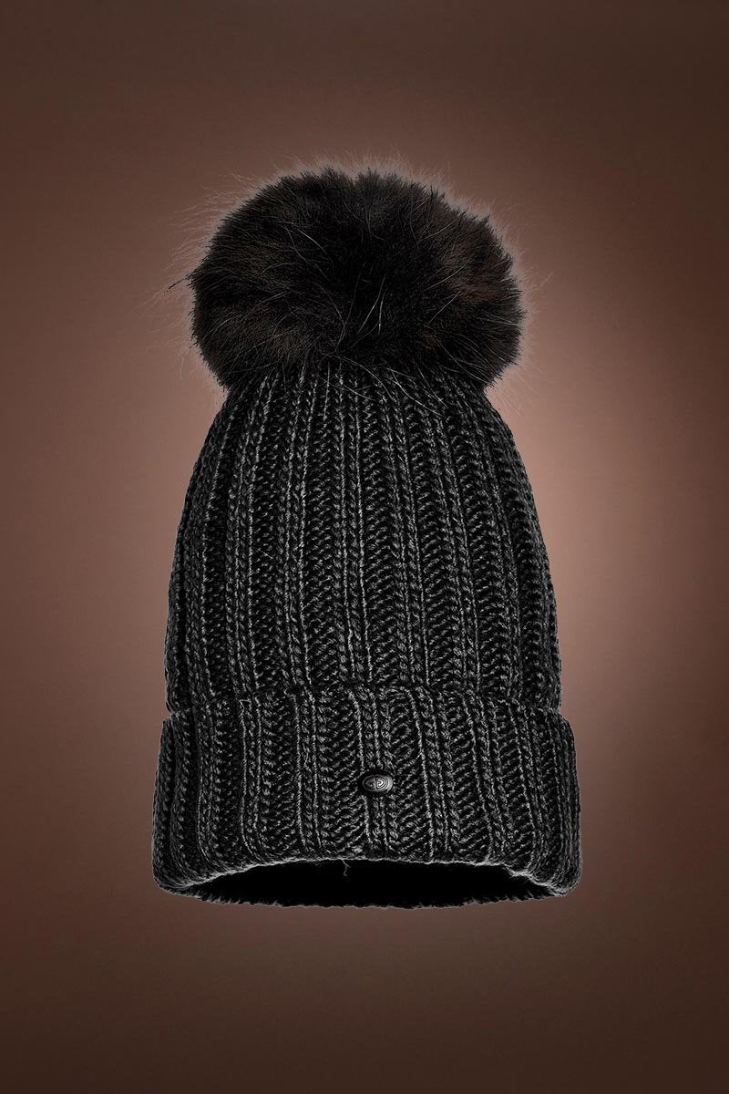 Black Goldbergh Women's Una Beanie Pom Pom Hat