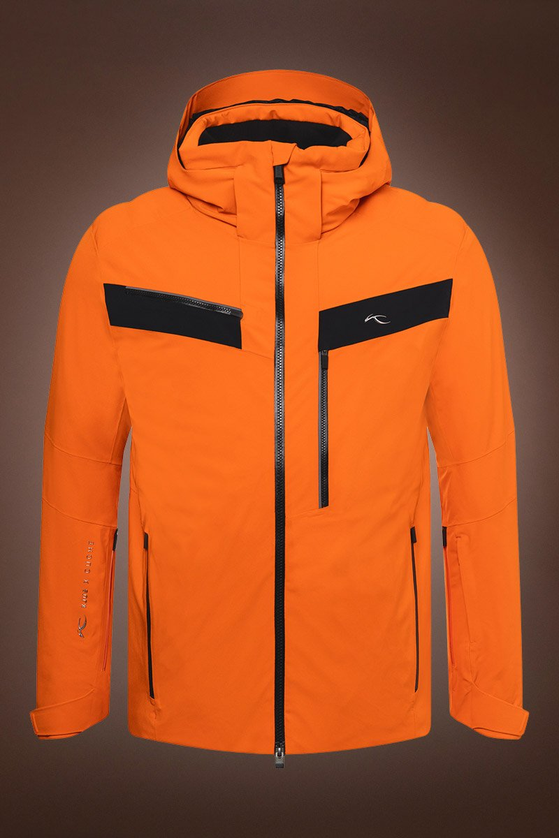 OrangeBlack Kjus Men's Cuche Ski Jacket