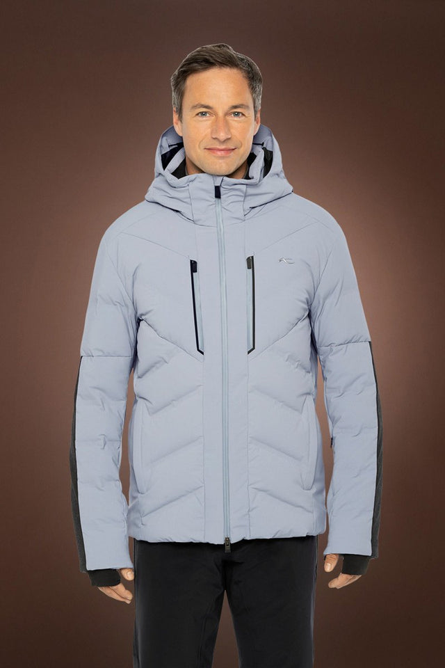 Linard Grey Down Ski Jacket