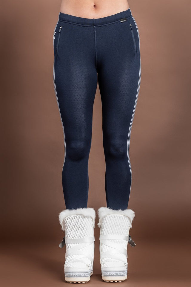 Suzy Navy - White Mountain Lounge Stars Parade DHTech 400 Base Layer Leggings