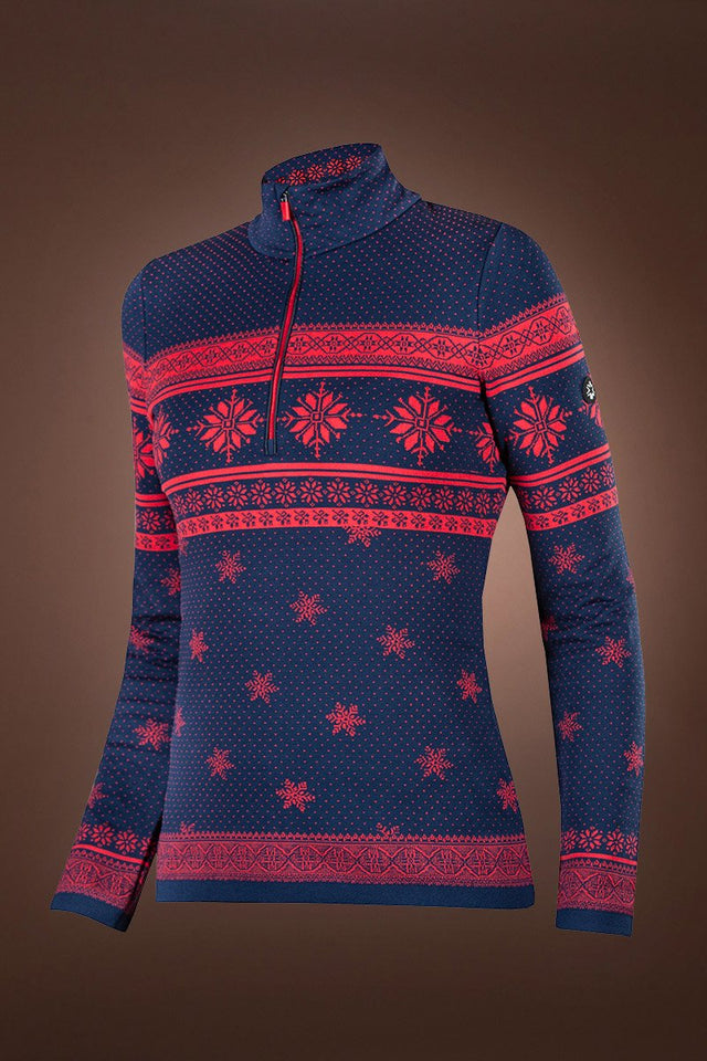 NavyBlue/Red Newland Women's Borovetz Sweater