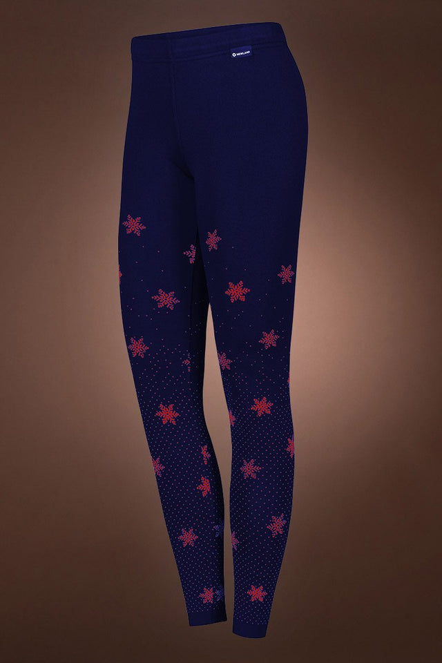 NavyBlue/Red Ceillac Mountain Lounge Iconic Norway Jacquard Leggings
