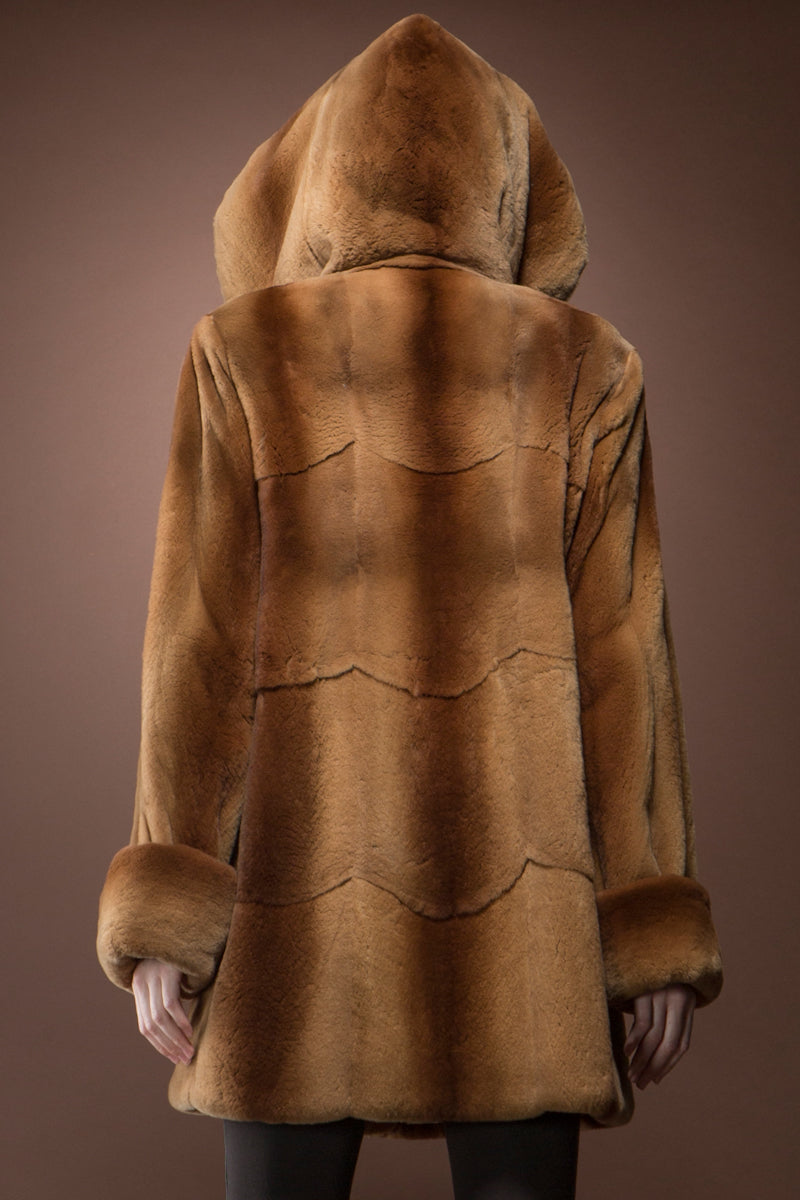 Whiskey Zandra Rhodes Skin on Skin Mink Fur Jacket