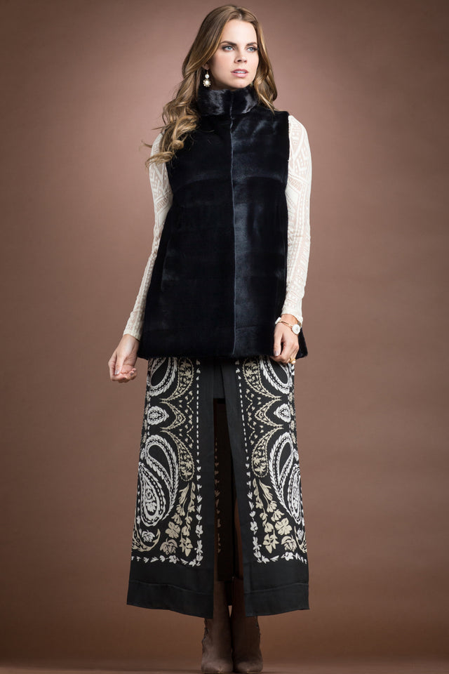Sheared & Long Haired Mink Fur Vest