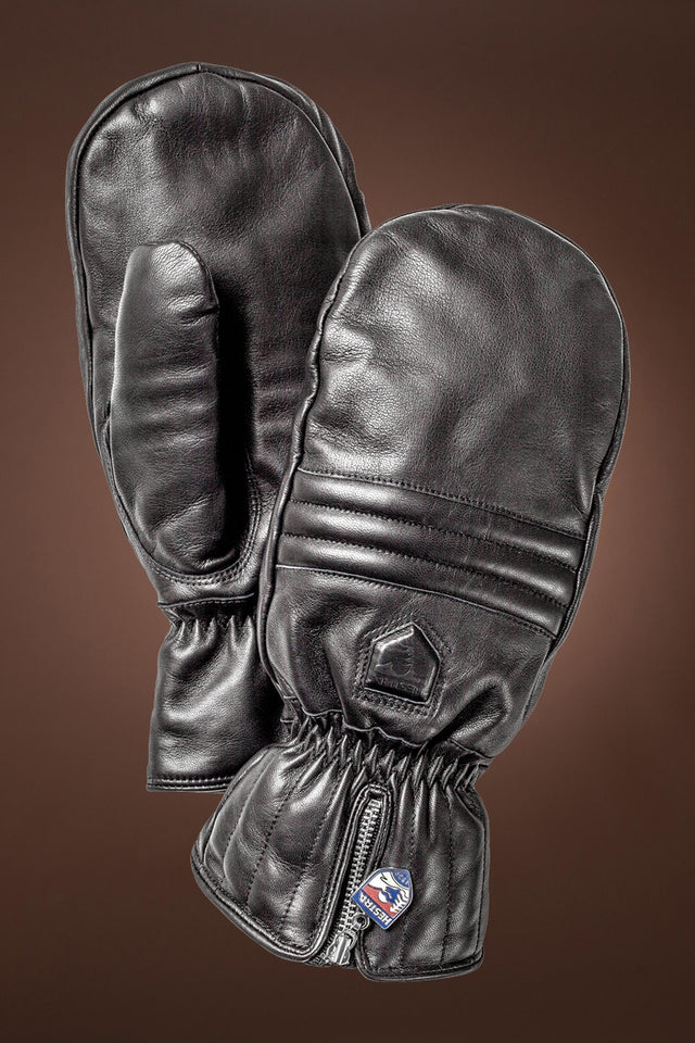 Unisex Leather Swisswool Classic Mittens