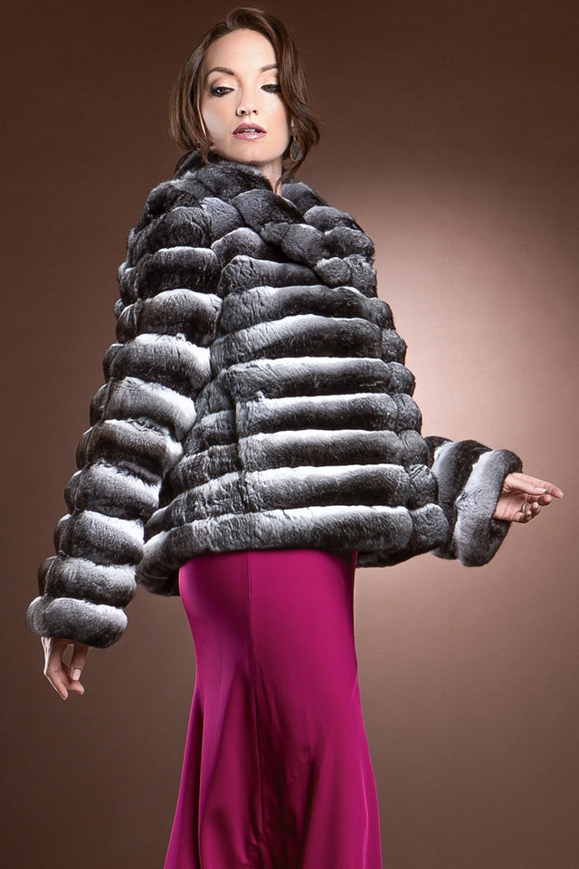 Mary McFadden Chinchilla Fur Jacket