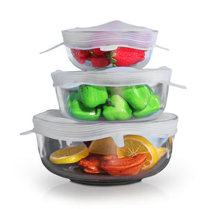 Square Reusable Food & Container Lids
