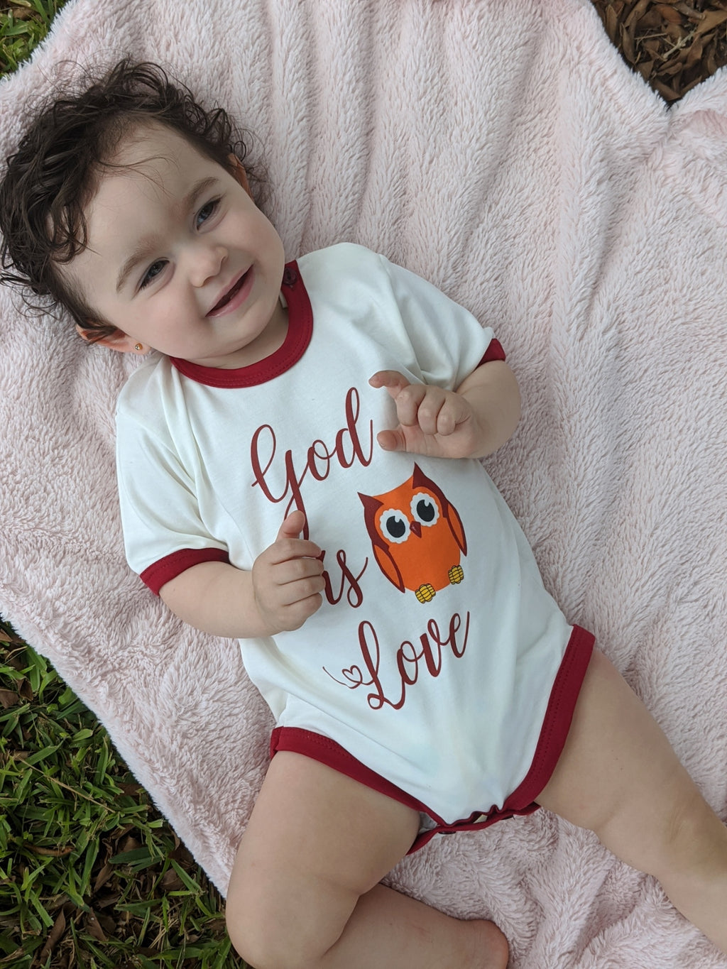 God is love Unisex Onesie