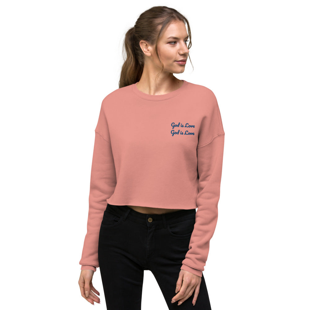 God is Love Crop Sweatshirt