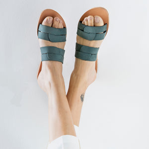 CLEO leather sliders- 3 Colours