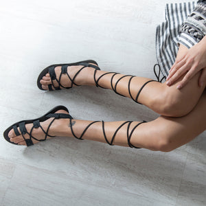 MELPOMENI leather sandals- 2 Colours