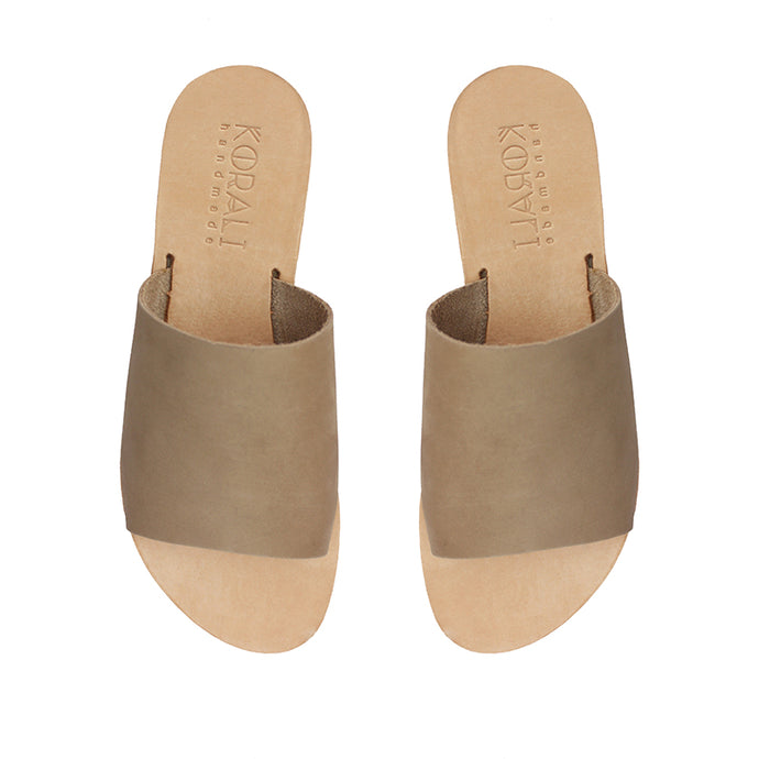 EUTERPE leather sliders- 3 Colours