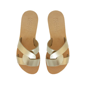 POLYMNIA leather sliders- 4 Colours