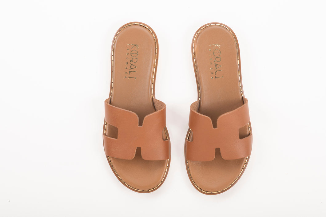 SOPHIA leather sliders- 2 Colours