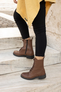 BEATRICE Brown Ankle boots