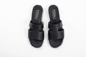 SCARLET leather sliders- Flash Sale