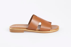 SELENA leather sliders- 3 Colours
