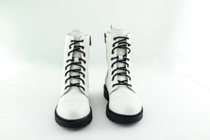 CHARLOTTE White Ankle boots