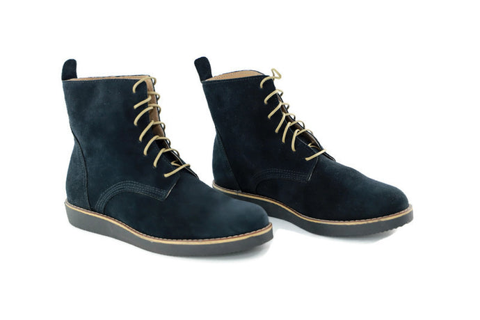 CHLOE Blue Suede Ankle boots