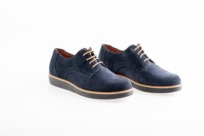 BETHANY Dark Blue oxford Leather shoes