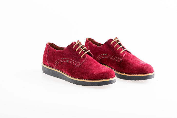 BETHANY Bordeaux oxford Leather shoes