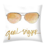Inspired Sunglasses Throw Pillow