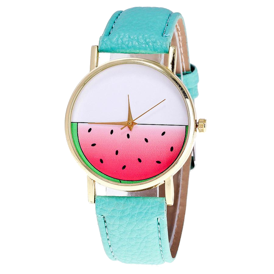 Leather Watermelon Watch