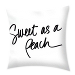 Sweet As A Peach Throw Pillow