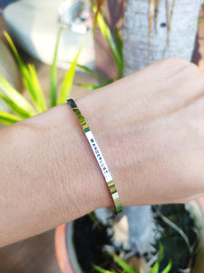 Mantra quote bracelet for women - Wanderlust - Silver, gold, rose gold - Travel Gift - Vagabond Life